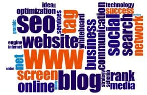 Word Cloud related to SEO and Websites