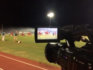 video camera used a football game