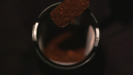 coffee brewing basket from overhead image