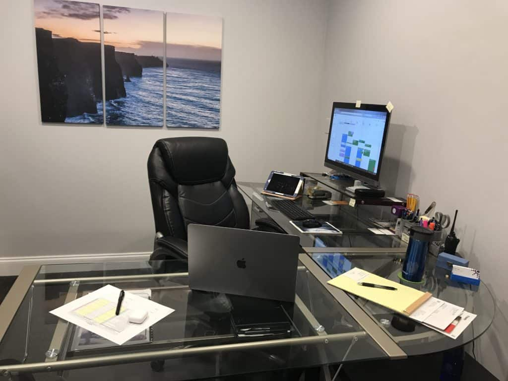 image of a clean working desk